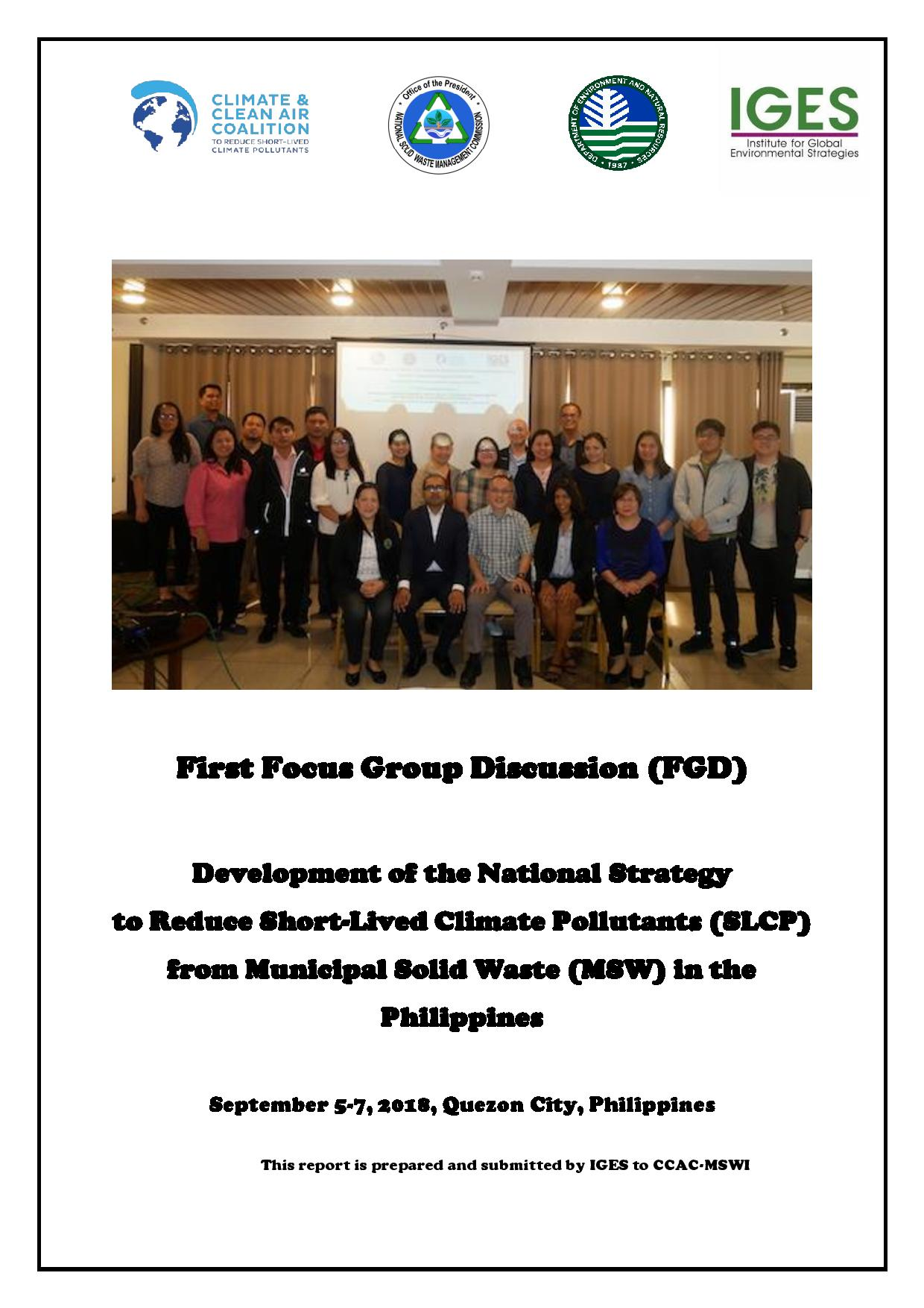 First Focus Group Discussion (FGD)